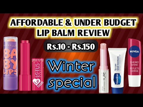 5-affordable-lip-balms-in-india-under-rs150- -5-budget-lip-balms-for-dry-lips- -lip-balms-review