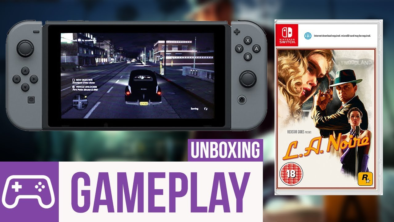 l a noire nintendo switch gameplay menu unboxing