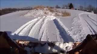 Snow Plowing with my Case 1840 Skid Steer Loader