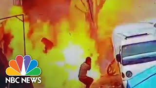 Deadly Syria Blast Captured On Surveillance Video | NBC News