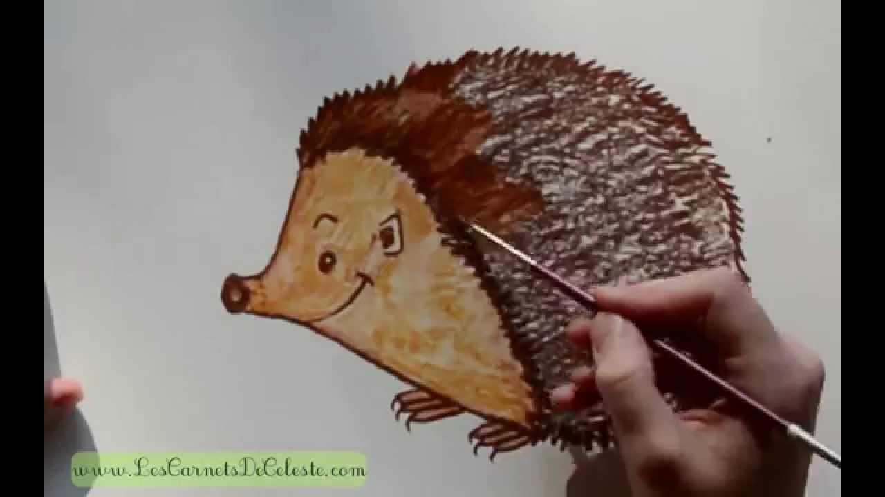 Comment dessiner un h risson youtube - Comment dessiner un marteau ...