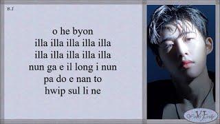 B.I (비아이) – illa iila (해변) Easy Lyrics