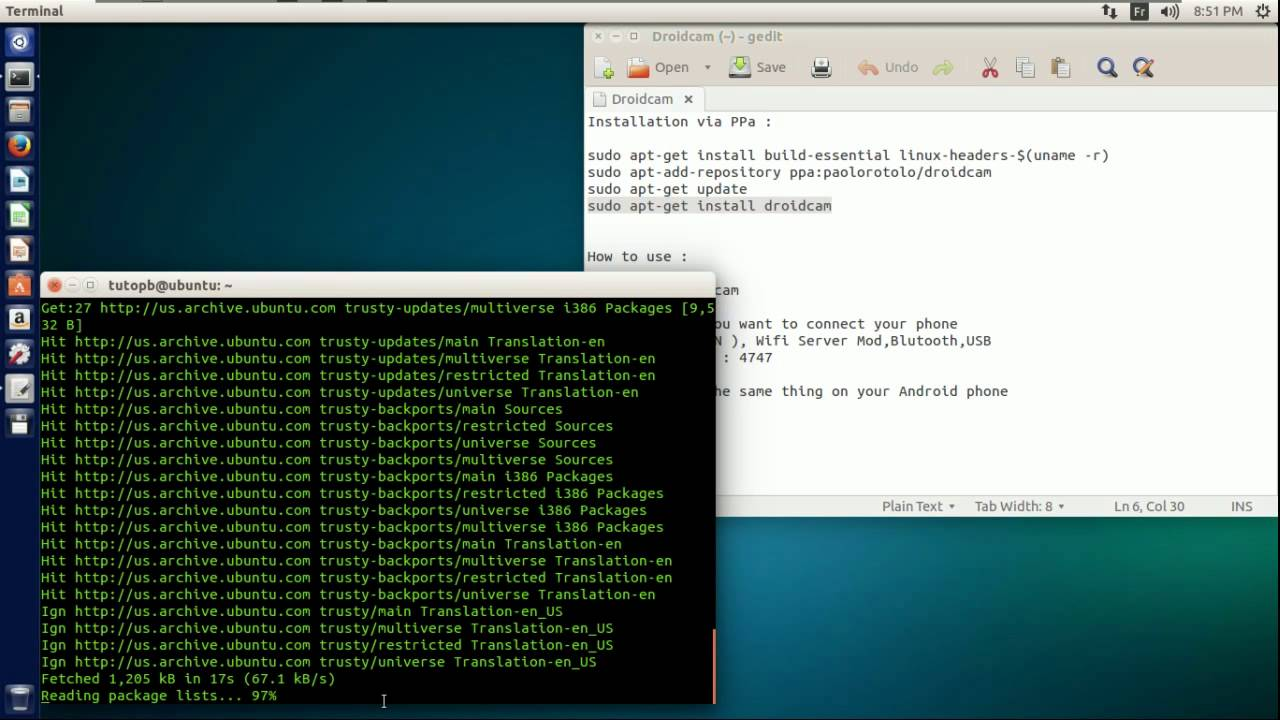 How to use your Android phone as webcam (Ubuntu & Win)