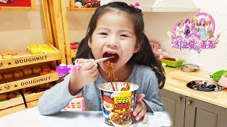 뽀로로 자장면은 너무 맛있어요!! 서은이의 뽀로로 짜장면 3편 모음 시크릿쥬쥬 키즈카페 Pororo Black Noodle