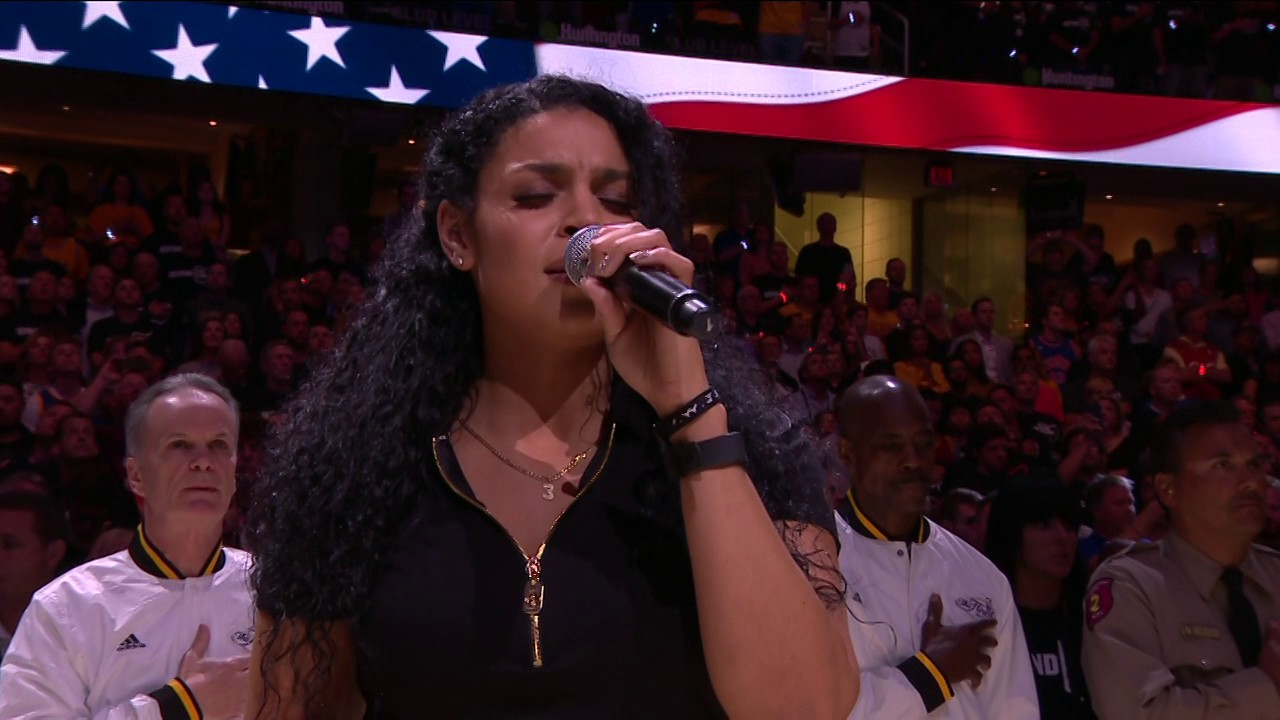 Jordin Sparks National Anthem Before Game 4 Of The Nba Finals Youtube
