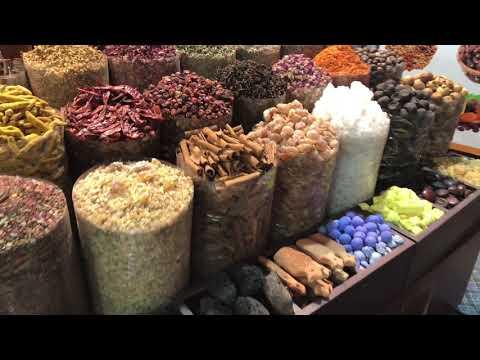 Dubai Gold Market , Spice Market & Textil Market + traditional Abra
