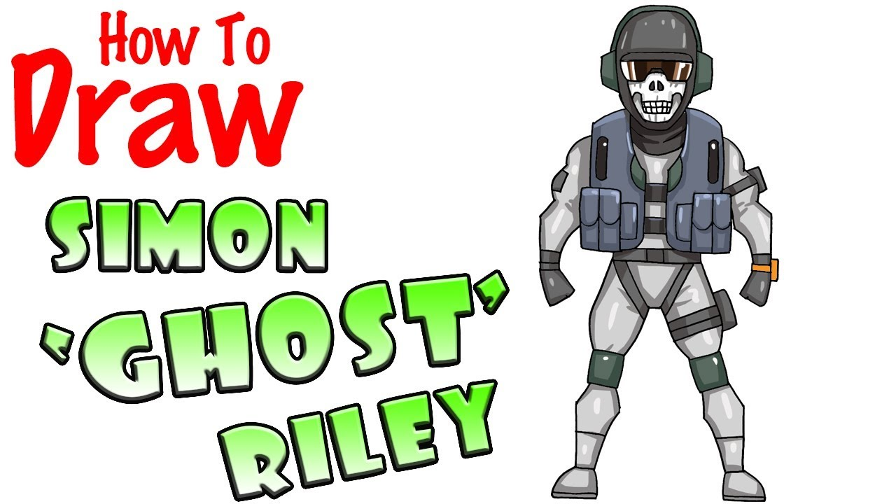 How To Draw Simon Ghost Riley Call Of Duty Youtube