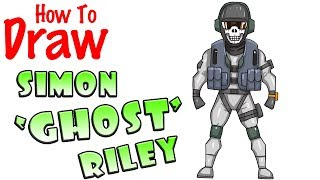 How to Draw Simon GHOST Riley | Call of Duty