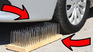 EXPERIMENT: CAR VS 200 NAILS 😱 thumbnail