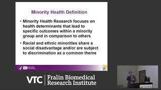 The Science Of Minority Health And Health Disparities: NIMHD Perspective