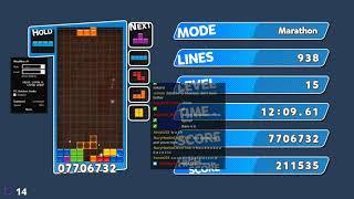 [TAS AI] Zetris Marathon MAXOUT 99999999 Score in 2:43:25 - Puyo Puyo Tetris (PC)