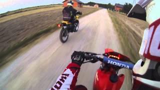 Honda xr 350 Yamaha xt 350 gopro