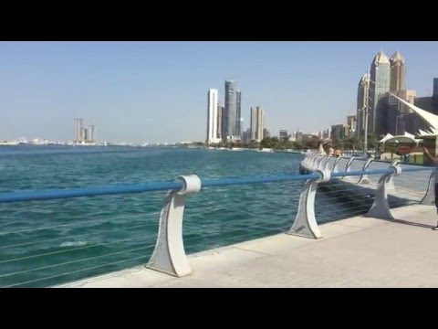 Abu Dhabi Skyline and Beach Area | Corniche Road | Beautiful Abu Dhabi Vlog