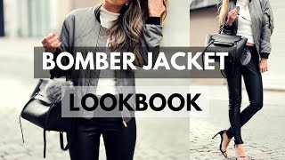 Bomber Jacket Outfit Ideas for Womens 2018 | WINTER LOOKBOOK