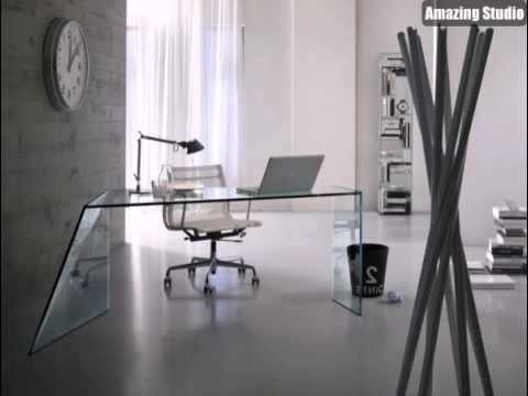 weiß graue moderne Bürozelle