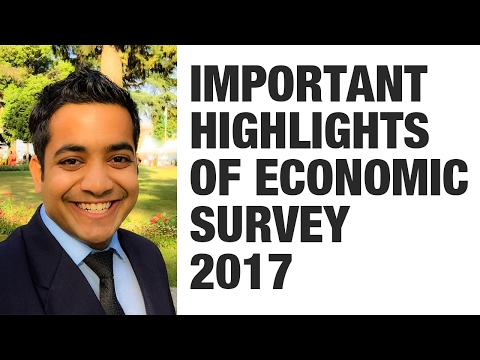 Important topics/highlights of Economic Survey 2017 (Page, P
