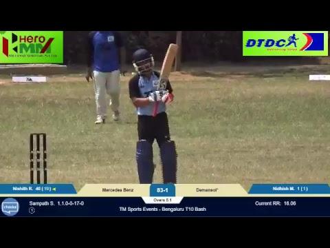 TM Sports Events - Bangalore T10 Bash: Mercedes vs Demansol