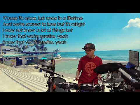 John Legend - Surefire (Karaoke Drum Cover by Timothy Liem) (with lyrics)