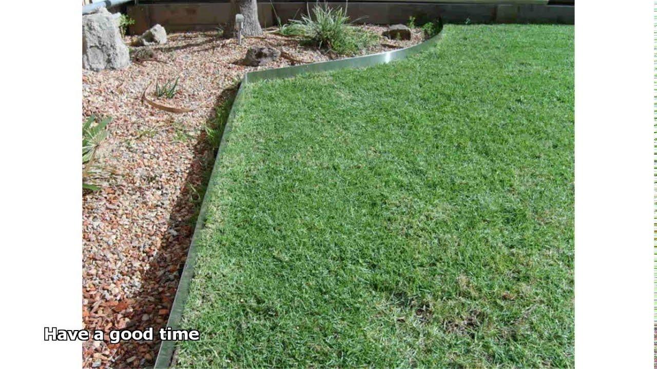 Steel garden edging youtube for Garden edging
