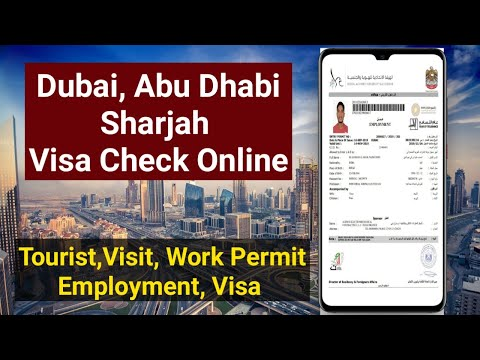 Dubai Visa Check online 2021 in Mobile, By Passport Number, Tourist Visa, Visit Visa, Work Permit