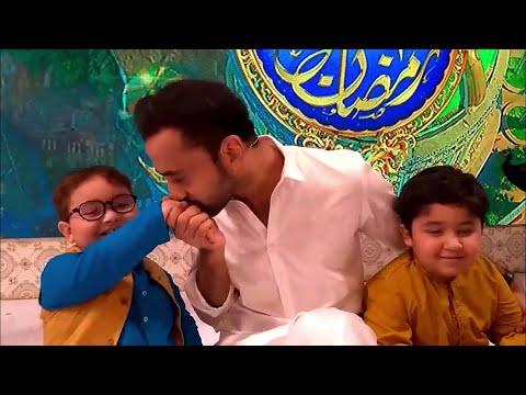 Ahmed Shah and Waseem Badami Last conversation Of Shan e Ramzan Backstage   Cute Pathan Ka Bacha