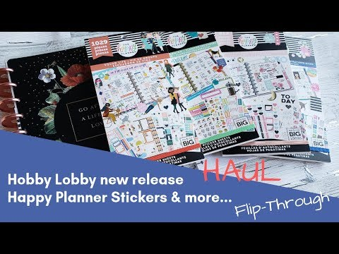 Hobby Lobby Happy Planner Haul of Feburary 2019 new release | Sticker books | Planner | Happy notes
