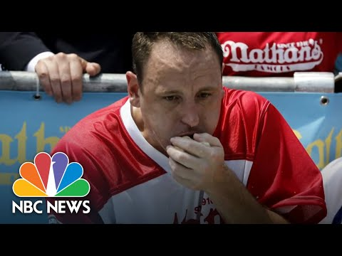 Joey Chestnut Sets New Record At Nathan's Hot Dog Eating Contest