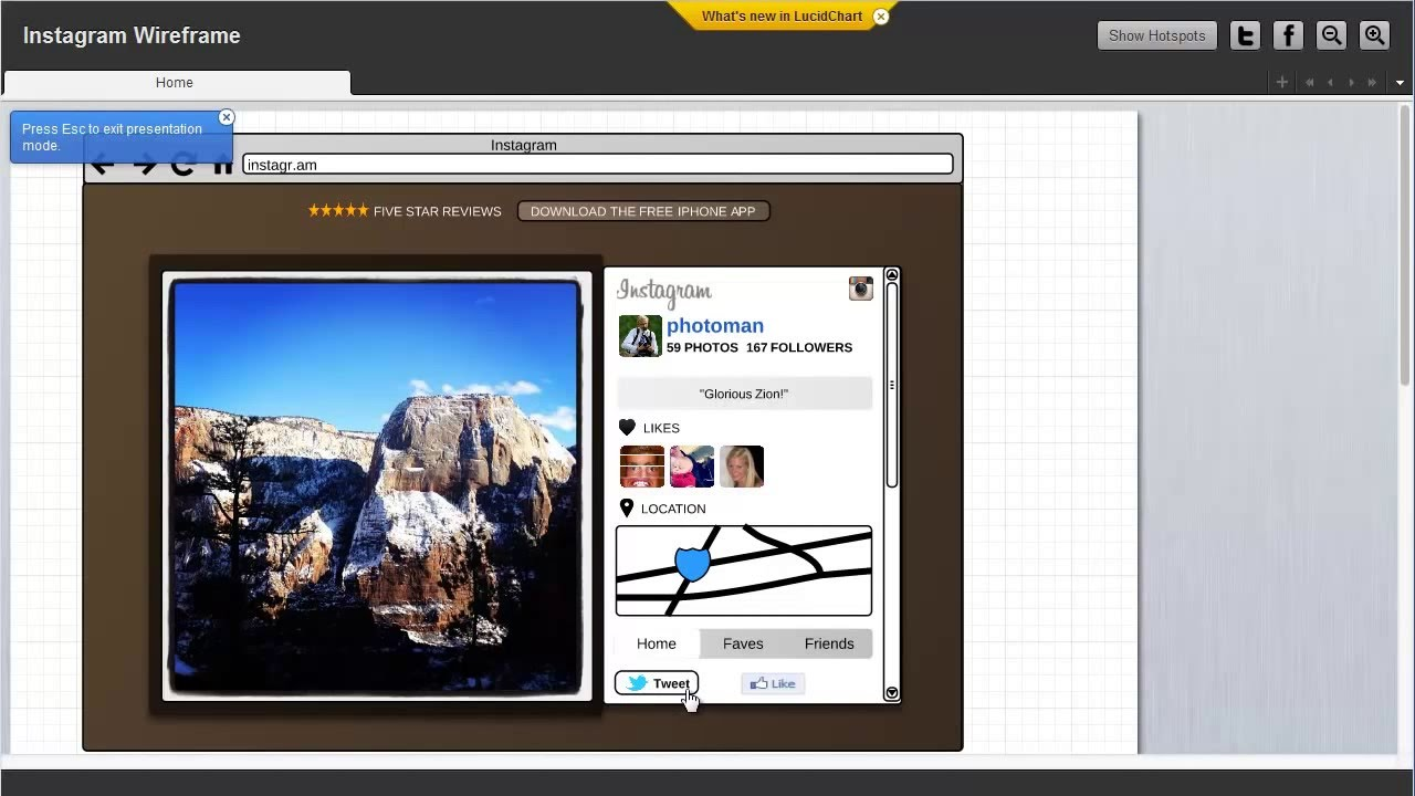 Wireframing With Lucidchart Youtube Wireframe Diagramming Tools