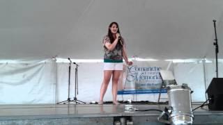 Arts for All Festival. Lawton,Oklahoma. Stephanie Sabol singing A Thousand Miles