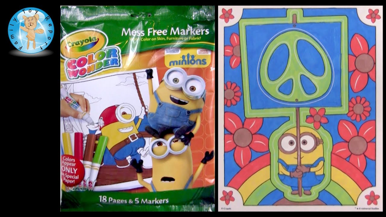 Minions Movie Crayola Color Wonder Mess Free Markers Coloring Book ...
