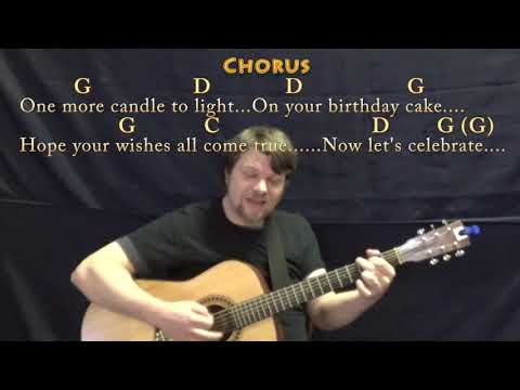 Happy Birthday (Traditional) Guitar Cover Lesson In G With Chords/Lyrics - Munson