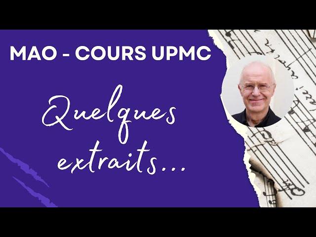 Composition de MAO à l'UPMC Paris Sorbonne