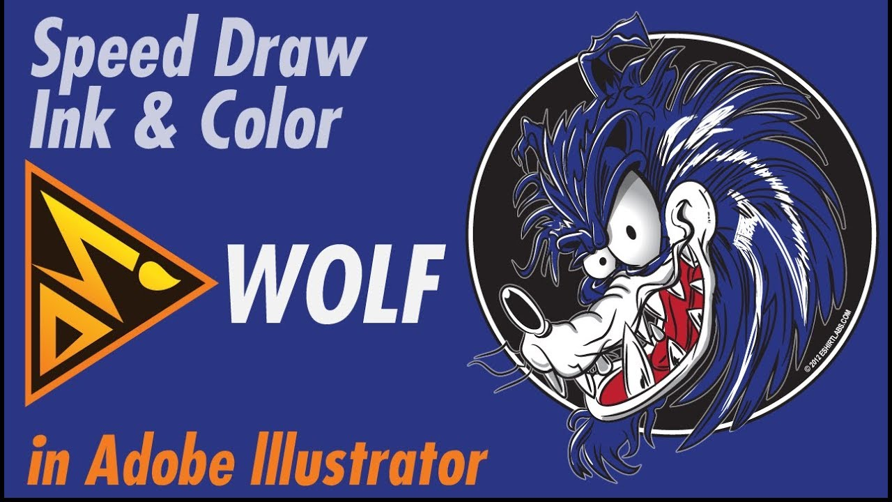 how to draw a wolf in illustrator