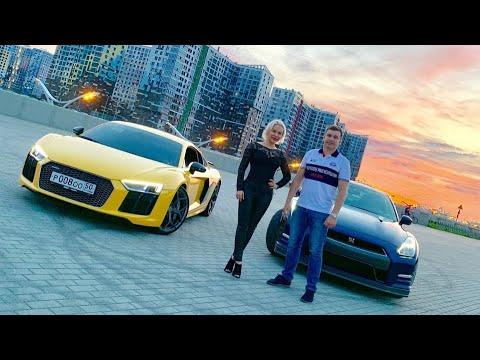 Audi R8 V10 Plus VS Nissan GT-R Stage 2 - 700 Hp. Не на того нарвались!