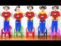 Beş Küçük Bebekler Sandalyeye W / Karikatür Balonlar Atlama, Bebek Kreş Şarkıları Çocuklar Için Tek