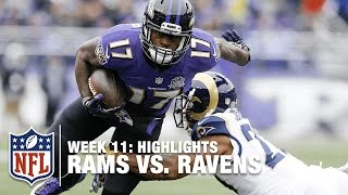 Rams vs. Ravens | Week 11 Highlights | NFL