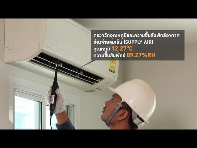 วีดีทัศน์ วิธีการตรวจวัดประสิทธิภาพของเครื่องปรับอากาศแบบสปรินไทส์  (SPLIT TYPE)