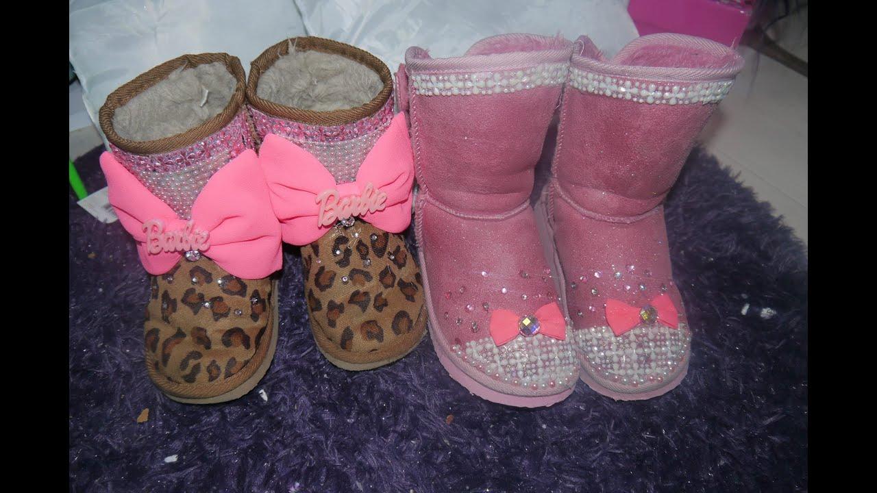 Manualidades personaliza tus botas ni as - Ideas para decorar zapatos de nina ...