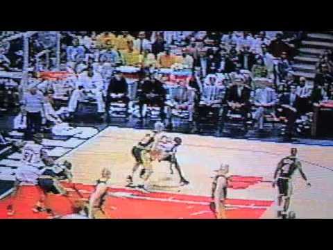Iowa State University Cyclones Fred Hoiberg NBA Playoff v. Michael Jordan and Chicago Bulls 1998