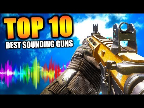 """Top 10 """"BEST SOUNDING GUNS"""" in COD HISTORY Call of Duty"""