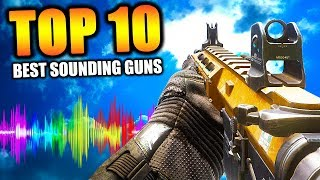 "Top 10 ""BEST SOUNDING GUNS"" in COD HISTORY (Call of Duty) 