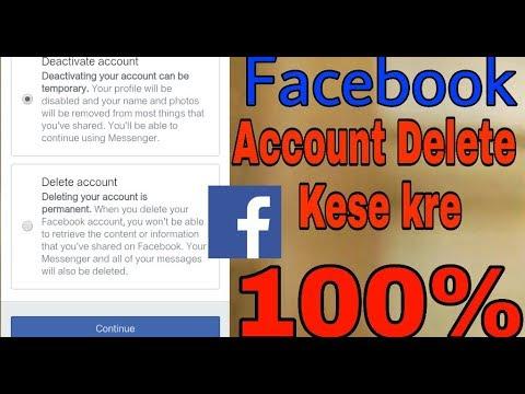 Facebook account ko delete kese kre, how to delete facebook account permanently