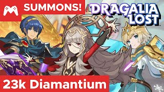 $400 - 23k Diamantium vs Lost Heroes Summons | Marth, Fjorm, & Veronica | Dragalia Lost & FEH