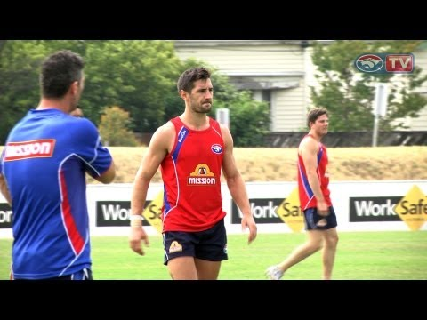 Matthew Bate and Nick Lower train with the Dogs