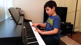 Nima Ahadi playing GOLE GOLDOON by Piano