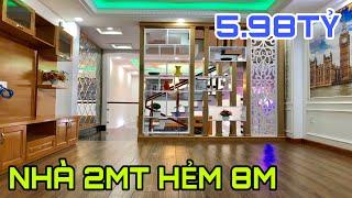 Bán nhà Gò Vấp|(36) Nhà đẹp 2MT HẺM 8M GIÁ RẺ thiết kế trệt lững 3 lầu rất đẹp 5.98 tỷ