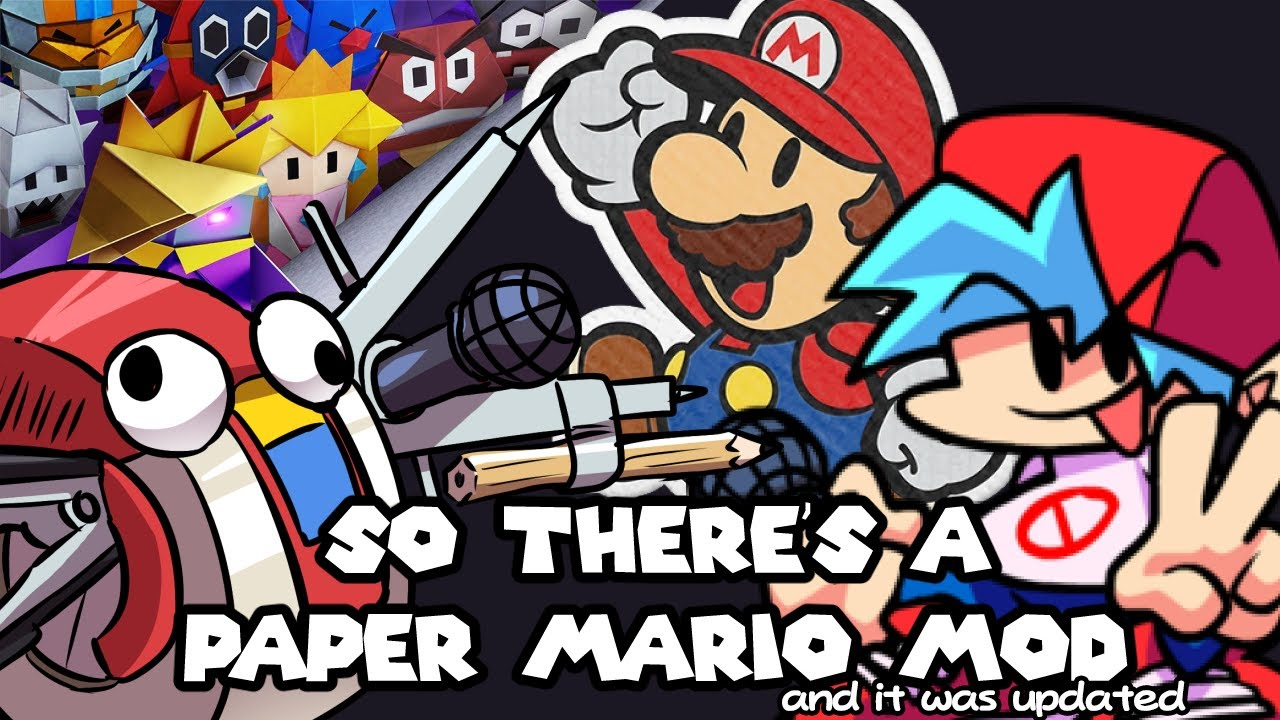 So the Paper Mario Origami King FNF Mod Got Updated