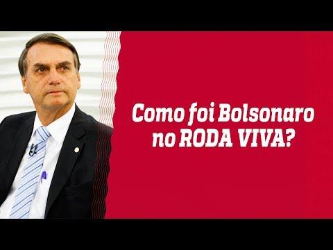 Bolsonaro participa do Roda Viva e chacoalha as redes sociais - 31/07/18