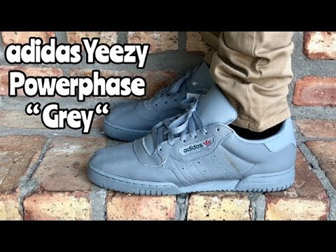 "8eb0e6ab11e0e adidas Yeezy Powerphase ""Grey"" ""Calabasas"" on feet - YouTube"