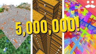 What does 5 Million Look Like in Minecraft?